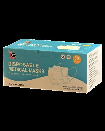 LIDE Disposable Medical Masks (Adults) (50's)
