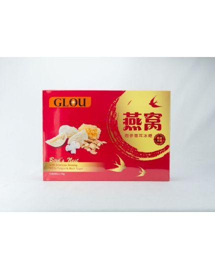 GLOU Bird's Nest with American Ginseng, White Fungus & Rock Sugar (6 x 70g)