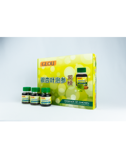 GLOU Essence of Chicken With Ginkgo Biloba and American Ginseng (6 x 70g)